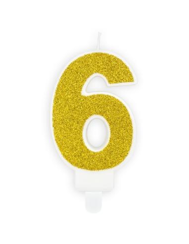 Pack 12 servilletas estrellas doradas