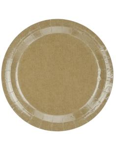 Pack 8 platos detalles oro grandes