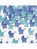 Pack 16 servilletas chevron azul marino
